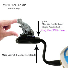 Novel 2019 Animal Tattoo Dragon Jurassic Park Acrylic Mini LED Flexible USB Decor Room Table Mood Night Lamp Birthday Gift
