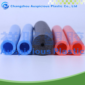 thermal insulation closed cell color foam tube / foam pipe insulation
