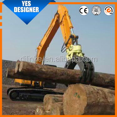 ZX210 excavator log grapple with 360 degree rotation
