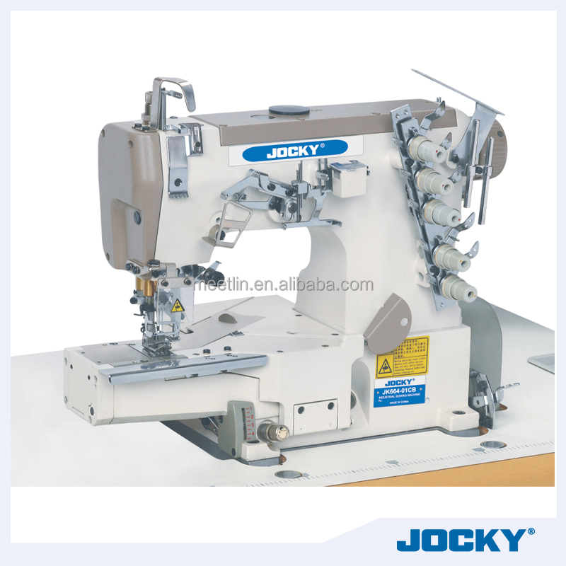 JK664-01CB High speed cylinder bed interlock sewing machine W600 cover stitch