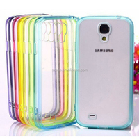 High Quality Soft Hybird TPU Clear Transparent Acrylic Combo Case Back Cover for Samsung Galaxy S4 Mini