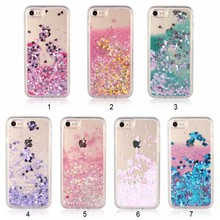 Beautiful Mobile Phone Case Glitter Bling Stars Liquid Quicksand Cover Hard PC Material Colorful Back Case For iPhone 6 6s plus