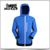 men's blue softshell jacket with TPU lamination fleece bonded