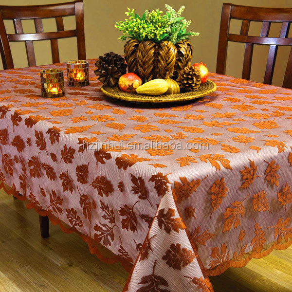 Glod Knit Lace Table Cloth Fabric