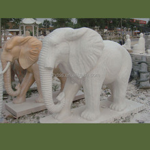 Natural Hand Carved Stone/Marble Elephant Statue