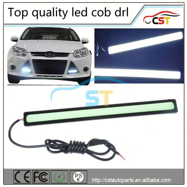 Wholesale Universal COB DRL 2*14cm 9W COB LED DRL Daytime Running Fog Lamp Light Bar White led 12V