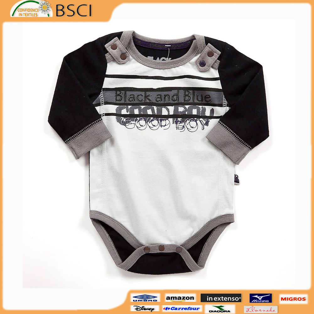 High Quality Newborn Baby Bodysuits OEM Cute Baby Clothes teddybear long sleeve