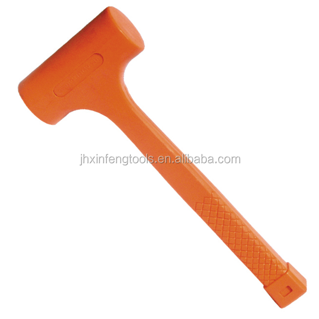 China factory of orange combine hammer pvc hammer dead blow mallet