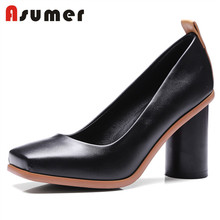 Asumer latest design fancy women dress high heel lady shoes