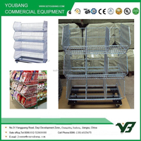 Wholesale Folding Stacking Cage,Wire Storage Basket