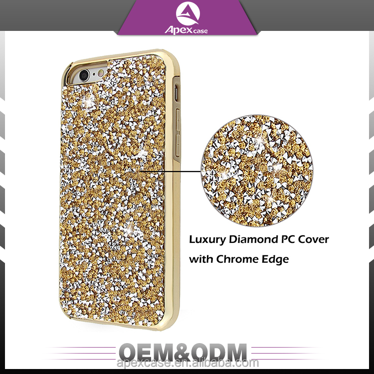 Hot selling diamond bling glitter rhinestone phone case for iphone