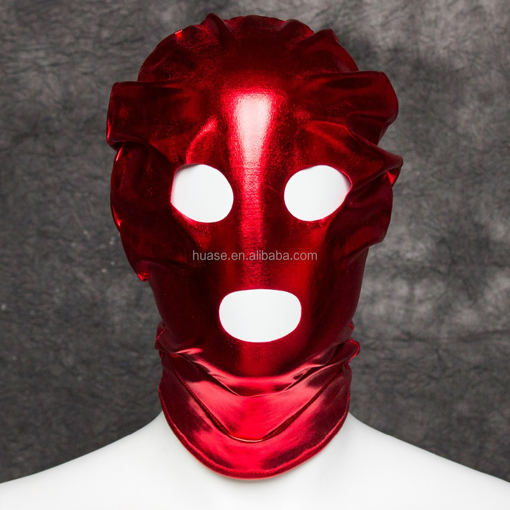 Sexy Spandex Hood Face Mask With Open Eyes And Mouth Bondage Hood Sexy Adult Novelty Product