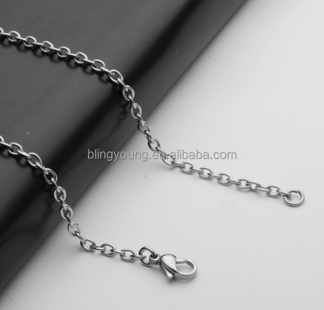 Wholesale stainless steel accessories men cross chain