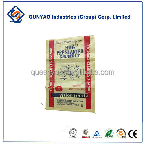 25KG 50KG Accept Custom Order and Agriculture Industrial Used Boop Iaminated pp woven bag poultry feed bags