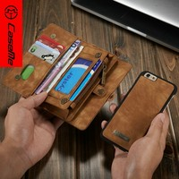 Detachable phone cover for iphone 6 6s case wallet, cover case for apple iphone6 6s leather flip