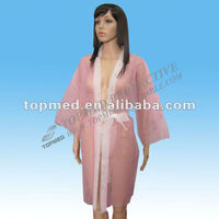 Pink Women S Dresses Disposable Nonwoven