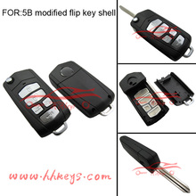 Replacement KA 5 buttons folding remote key case
