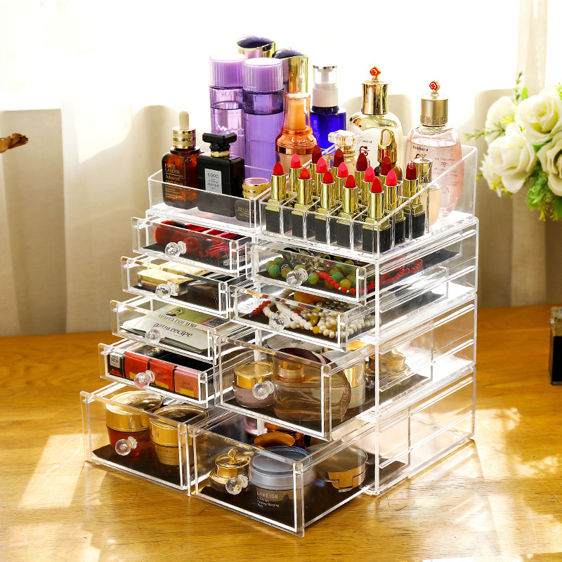 Hot Sale Customized Clear Acrylic Makeup Box Display
