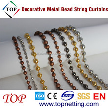 6mm Plated Silver Color Decorative Metal Bead String Curtains