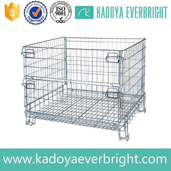 Industry galvanized metal folding forklift safety cage
