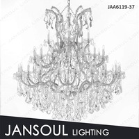 Chrome 19 lights classical italian chrystal chandelier