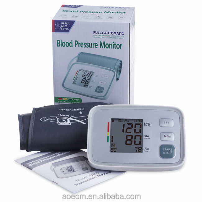 FDA Approved Fully Automatic Upper Arm Electronic Blood Pressure Meter Monitor Machine Manufacturer Shenzhen