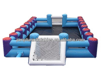Top selling inflatable air football field/water soap soccer court