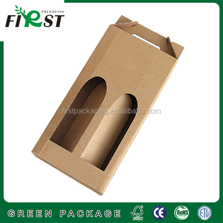 corrugated paper wine box,cheap wine box,paper box for wine