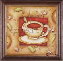 New design abstract coffee cup oil painting for decoration
