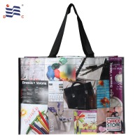 Picture printing laminated matte pp woven store shopping bag