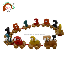 Wood DIY hand-draw number train toys,wooden train set