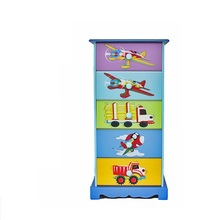 Kids <strong>Furniture</strong> Cartoon wooden cabinet preschool children <strong>furniture</strong> storage kids wooden 5 drawer cabinet TY10065B