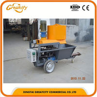 Automatic single and three phase lime mortar plaster spray machine with high performance