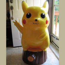 Resin Animation Pokemon Sculpture Large Fiberglass Pikachu Garden Statue