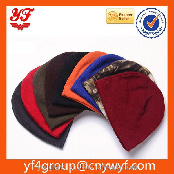 wholesale hot sell Colorful Polyester knitted Polar fleece Fashion Beanie winter cap