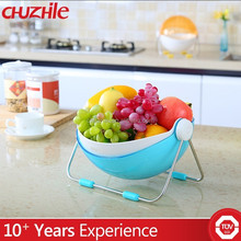 China Supplier Fashion Plastic fruit holder fruit basket with net cover