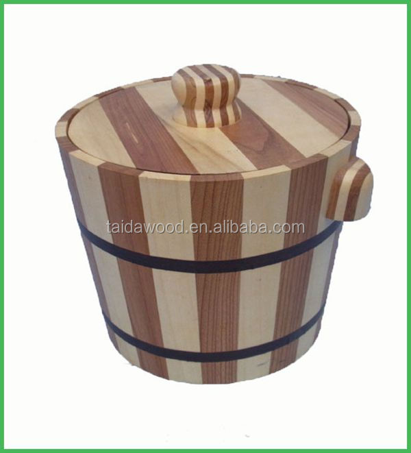 Best selling wooden barrel with lid