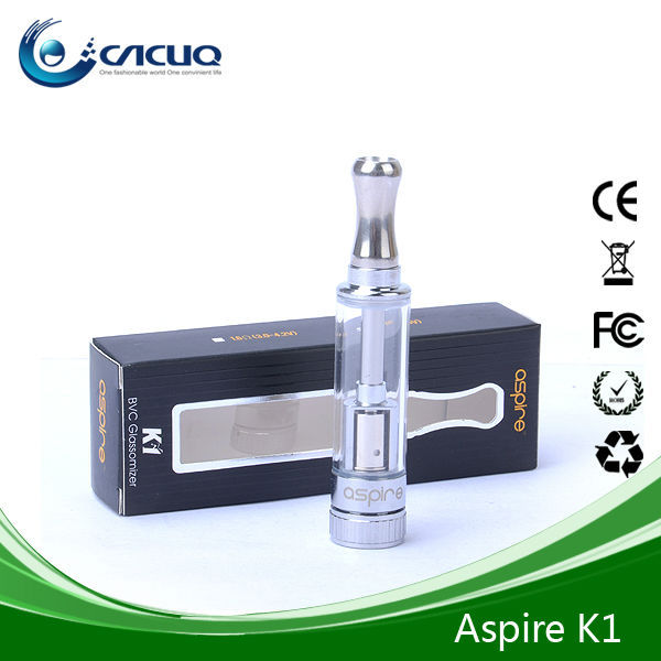 China Aspire 1.5ml Clear Atomizer Aspire K1 BVC coils,20pcs/packing box