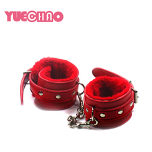 YUE CHAO Leather Bondage Fetish Hand Cuffs Wrist Cuff BDSM Handcuff Sex Toys For Couple