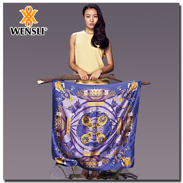 Beautiful Hot Sale Digital Print Twill Silk Scarf