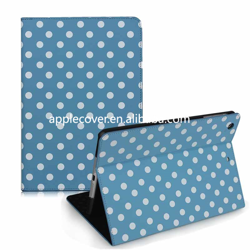 Polka Dot Leather cover for iPad Mini 1/2/3,for ipad cases