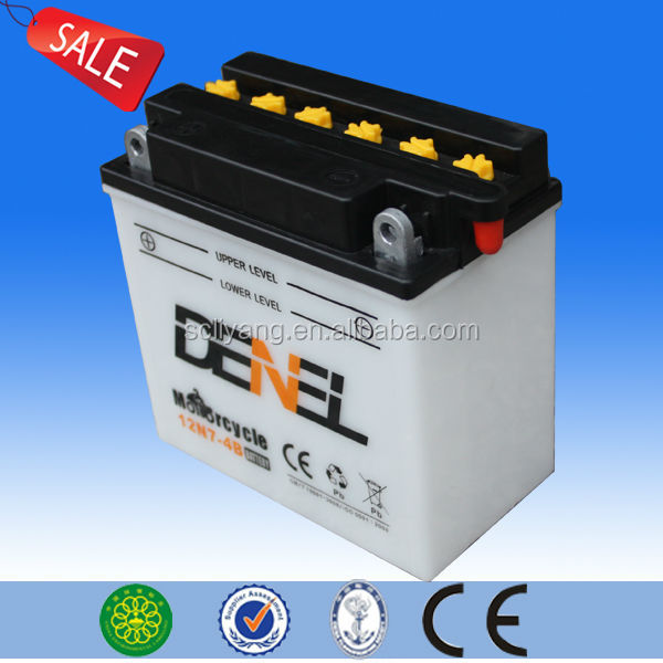 12v dry charge battery used on motorcycle
