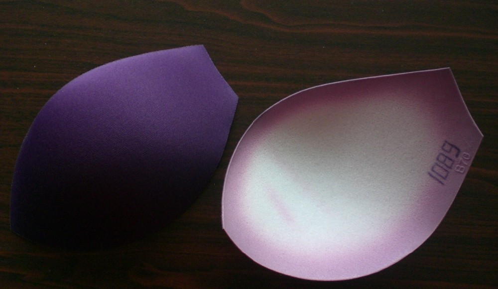 3/5 light thin lady foam bra cups factory1089,good quality