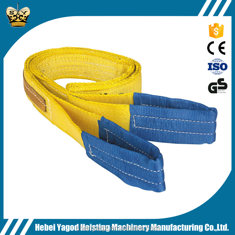 Hot Sale 5 Ton 6M Polyester Heavy Duty Flat Webbing Lifting Slings