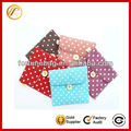 Jute lovely dot pattern sanitary napkin storage bag for girl