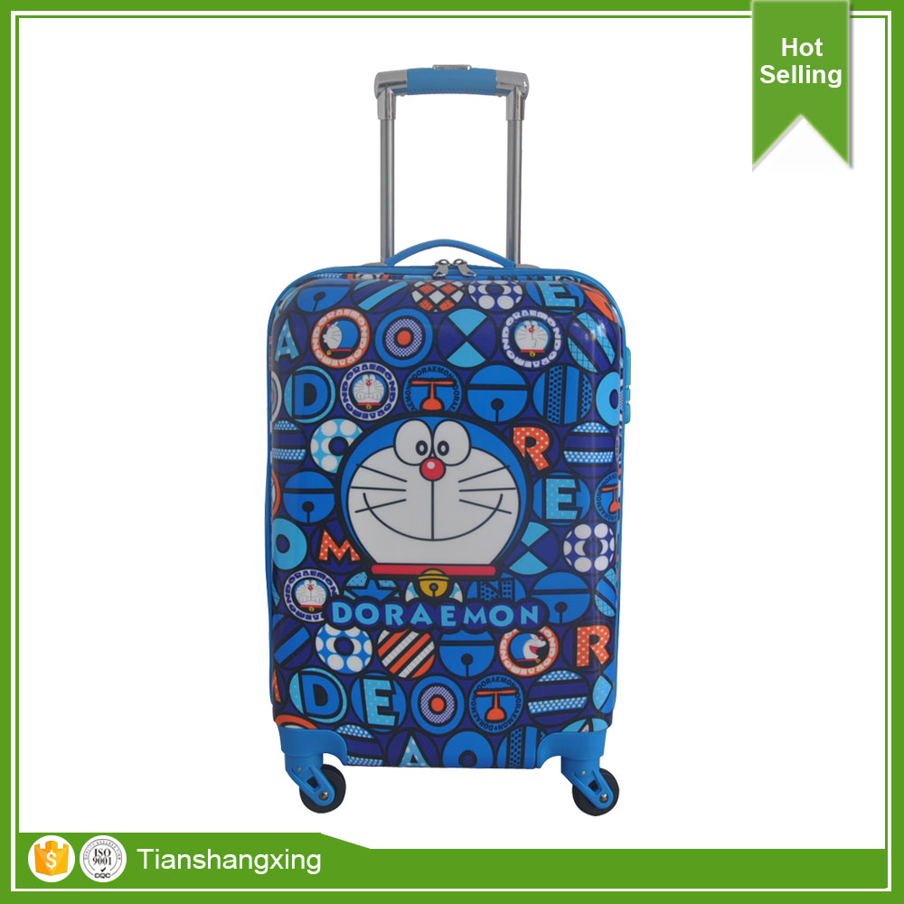Hot selling Cartoon Trolley Bags For School And Travel Kids Luggage