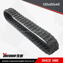 best quality small robot/excavator rubber track width from 100mm-800mm