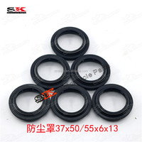 Motocross 37x50 / 55x6x13mm Front Fork Shock Oil Seals Dust Cover For Pit Dirt Bike Up Side Down Absorbing Suspension