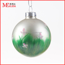 new design hanging personalised christmas glass ball as christmas tree decoration