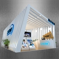 Detian Offer innovative led trade show display exhibition booth portable exhibition system booth